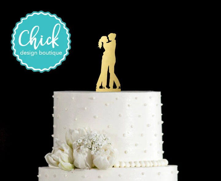 Bride and Bride Couple in Love Wedding Cake Topper  Same Sex     Bride and Bride Couple in Love Wedding Cake Topper  Same Sex Marriage Cake  Topper