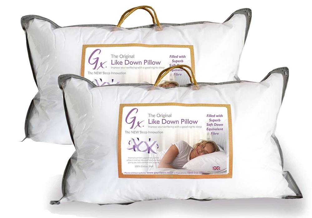 gx like down pillow twin pack