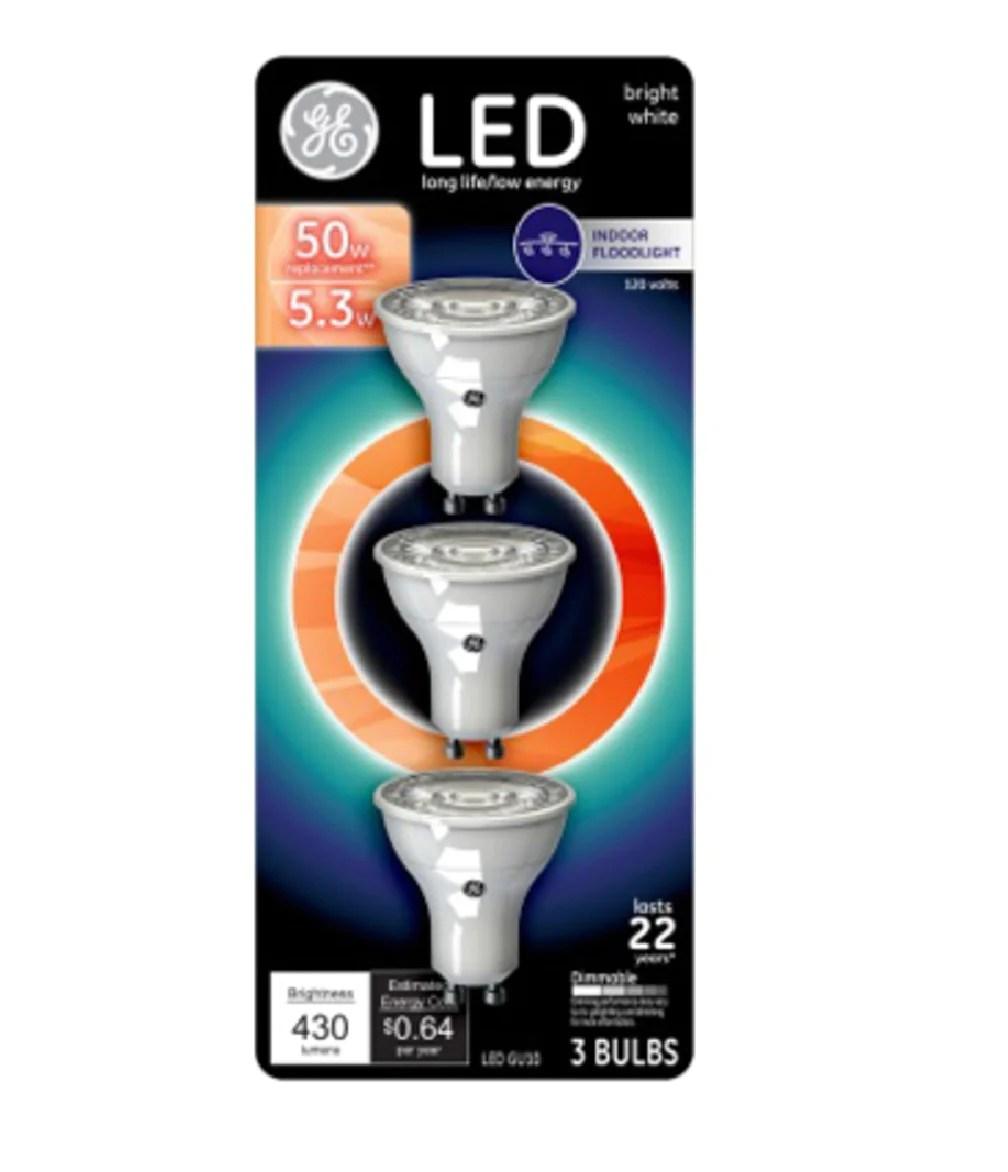 ge lighting 93095535 mr16 recessed led flood light bulb 5 3 watts