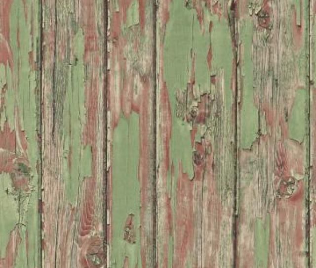 Vintage Wood Wallpaper Brown And Light Green R