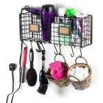 Amalfi Wire Basket For Bathroom Decor Wall Mounted Bathroom Organizer