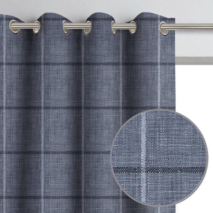 asher plaid drapery panel