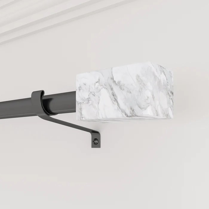 smithsonian museum rectangle finial curtain rod