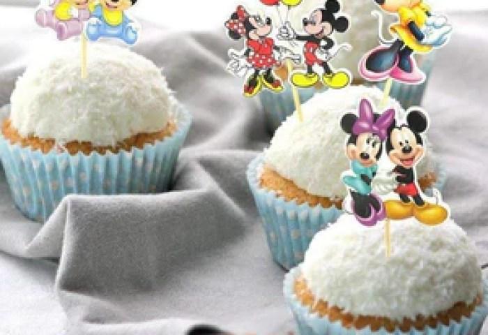 24pcs Mickey Minnie Mouse Cupcake Topper Picks Birthday Shop