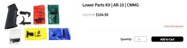 Lower Parts Kit | AR-10 | CMMG