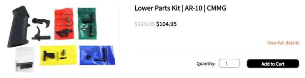 Lower Parts Kit | AR-10 | CMMG
