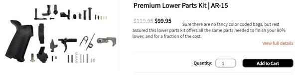 Premium Lower Parts Kit   AR-15