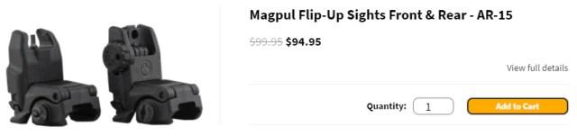 Magpul Flip-Up Sights Front & Rear - AR-15