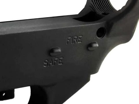 Fire/safe engraved 80 percent lower