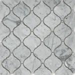 Calacatta Gold Marble Lantern Arabesque Mosaic Tilezz