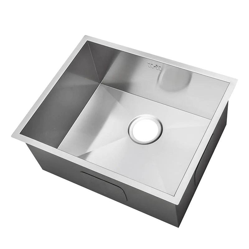 540 x 440 mm undermount deep single bowl handmade stainless steel sink ds007
