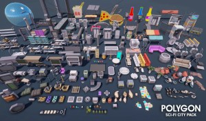 POLYGON Sci-Fi City Pack (v1.18) Free Download