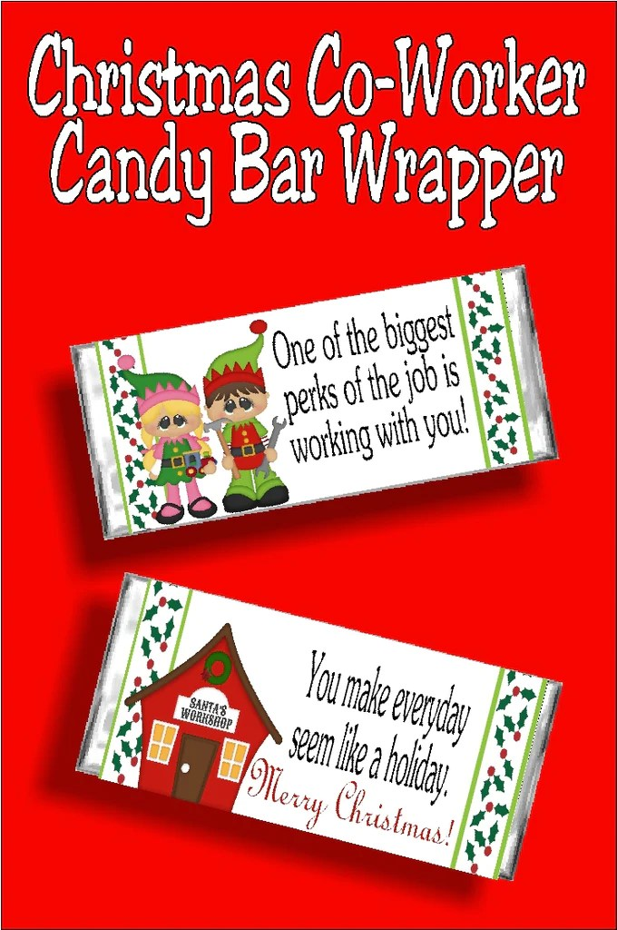 Christmas Co Worker Candy Bar Wrapper Printable