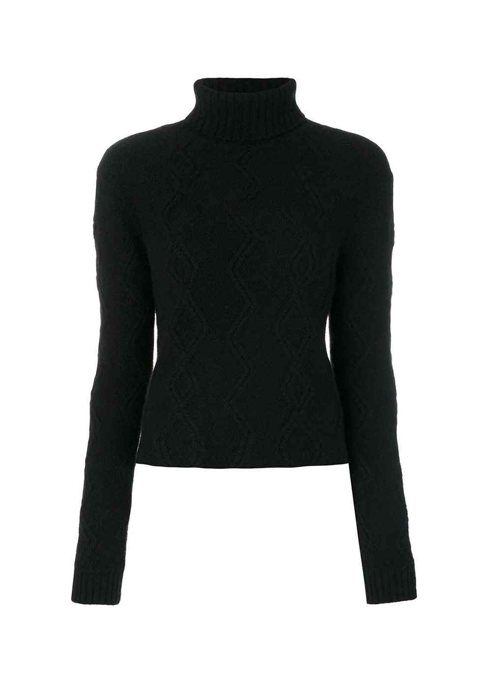 8617fa9a20efa Cashmere in Love – Tess Cable Knit Cropped Jumper – Large / Black – 100%  Cashmere – $556.00