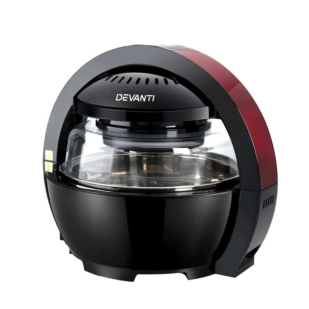 13l Air Fryer Oven Cooker Black Amp Red