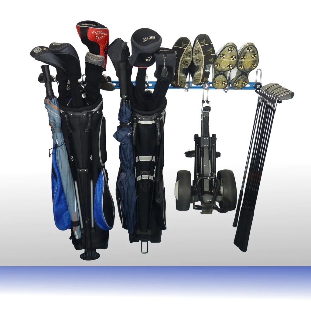 golf club wall storage extra gearhooks for golf bags trolleys clubs clothing and shoes gearhooks