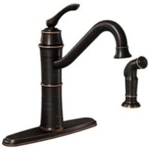 moen 87999brb wetherly single handle kitchen faucet bronze
