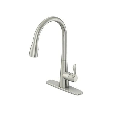 oakbrook 3978 k104 vela pull down one handle kitchen faucet brushed nickel