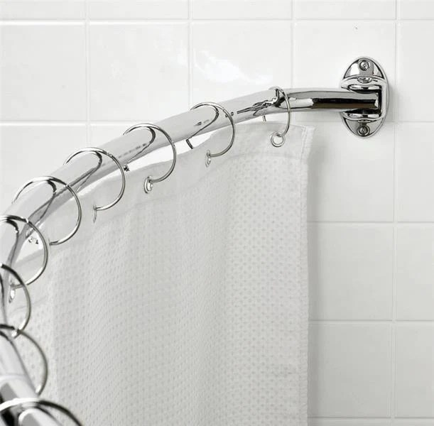 zenith 35603ss06 adjustable hotel shower curtain rod 60 72 chrome