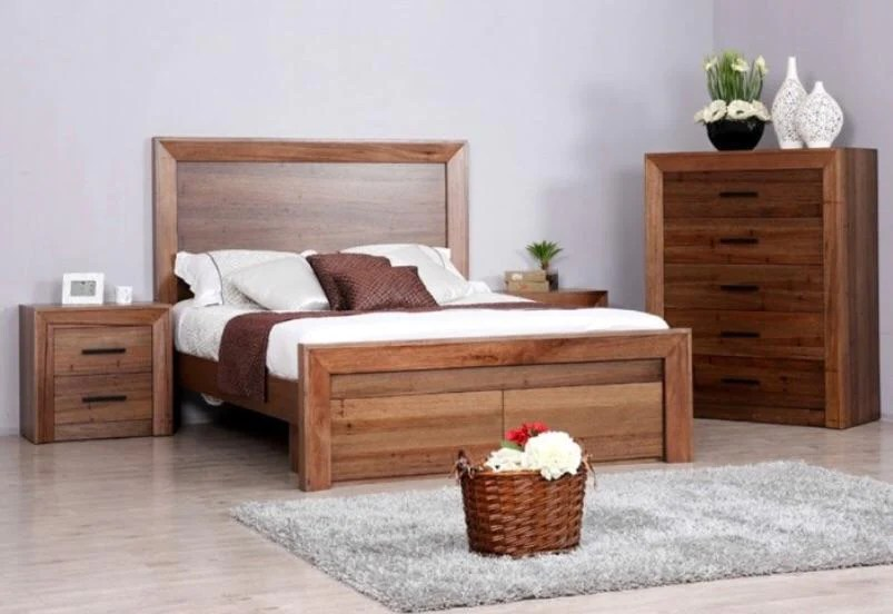 cambridge bedroom suite constructed from wormy oak timber