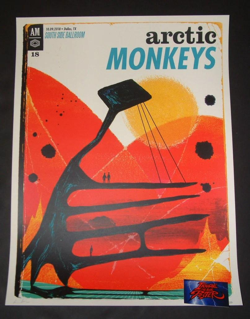 ivan minsloff arctic monkeys dallas poster artist edition 2018