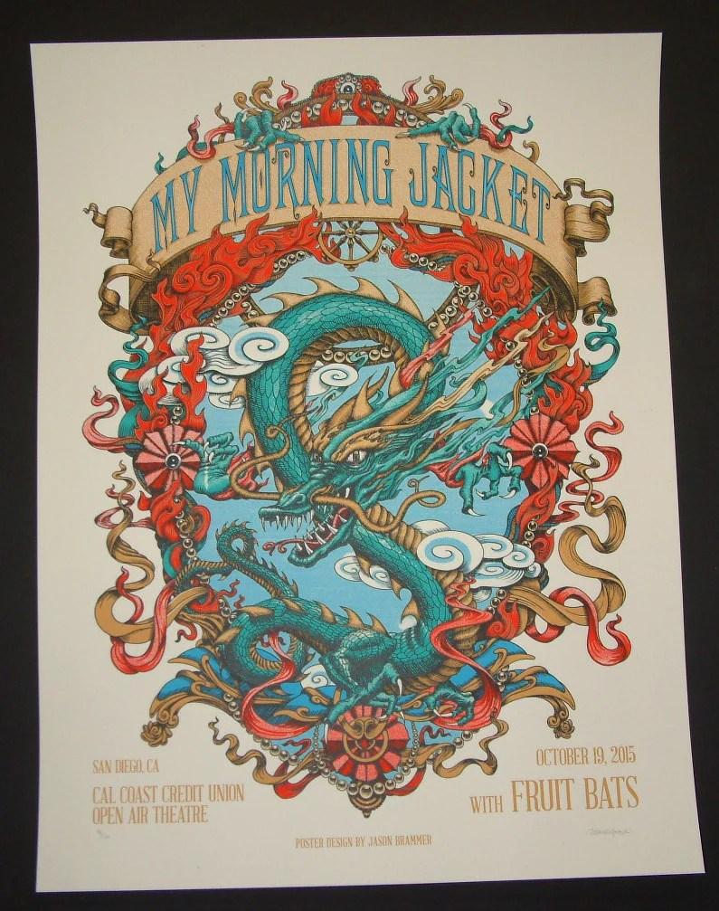 jason brammer my morning jacket san diego poster 2015 artist edition