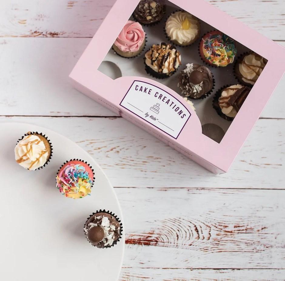 caja de cupcakes para día de las madres