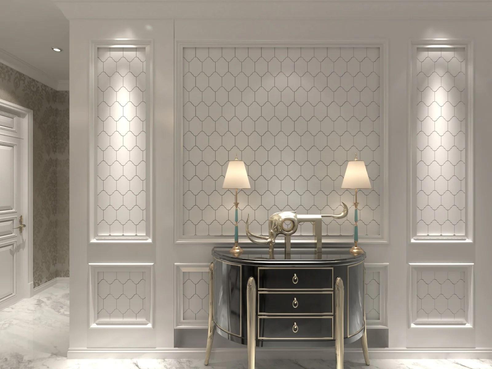 avalon dolomite marble arabesque mosaic