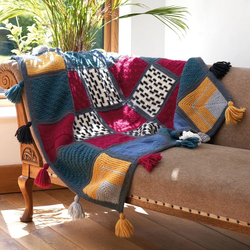 emeline mindful blanket peaceful home knit along