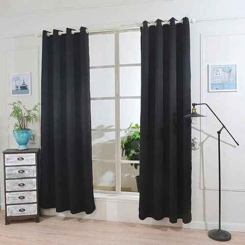 1pc modern blackout curtains thick curtains fabric