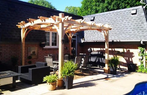 Outdoor Living Today Arched Breeze Pergola Kit 10 X 12