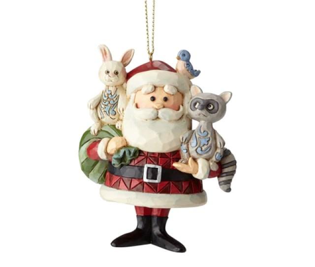 Santa With Woodland Animals