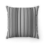 Black And White Stripes Contemporary Decorative Cushion Cover Tres Elite