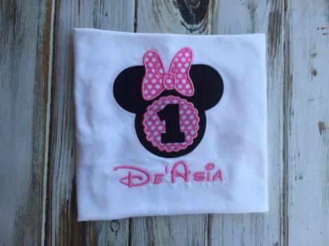 Minnie Mouse 1st Birthday Shirt Or Onesie Babybirdscloset