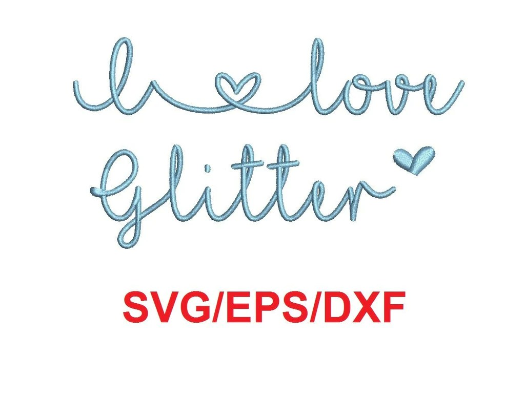 Download I Love Glitter alphabet svg/eps/dxf cutting files (MHA ...