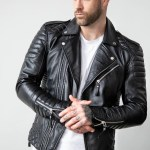 Buy Mens Quilted Black Leather Motorcycle Jacket Lucajackets Luca Designs