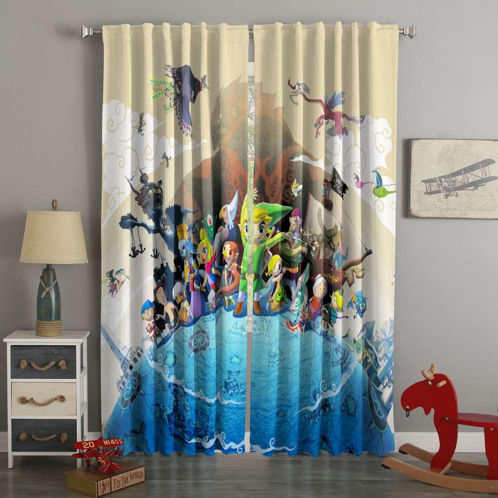 3d printed the legend of zelda style custom living room curtains 3d printed the legend of zelda style custom living room curtains