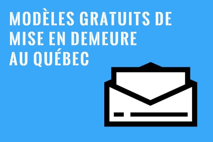 7 Exemples De Mise En Demeure Modèles Gratuits Au Québec
