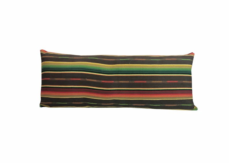 sundance serape long rectangular pillow chocolate fiesta