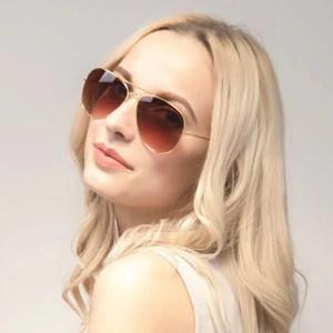 Women Classic Metal Designer Sunglasses