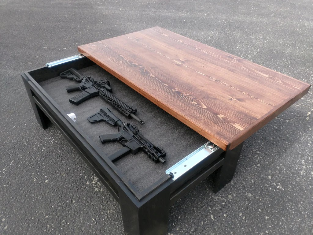 sliding top concealment coffee table