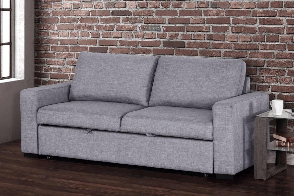 vincenzo media loveseat sleeper sofa bed
