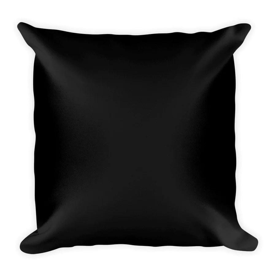 black square pillow