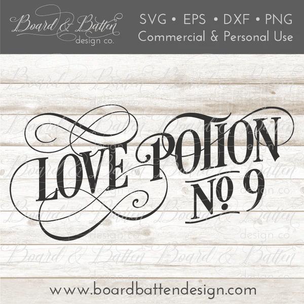Download Love Potion No 9 Vintage SVG - Board & Batten Design Co.