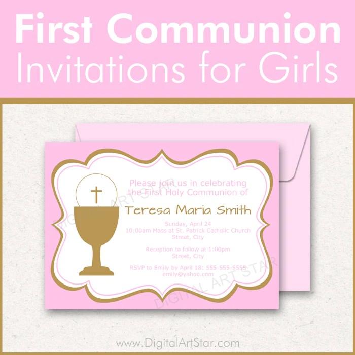 17 first holy communion invitation