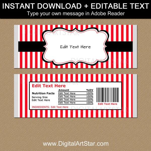 Chocolate Bar Wrapper Template Rota Template