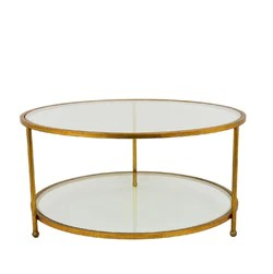 lilia gold round coffee table