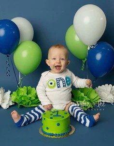 Monsters Inc Little Monster Boy First Birthday Outfit Cake Smash Out Babytrendzz