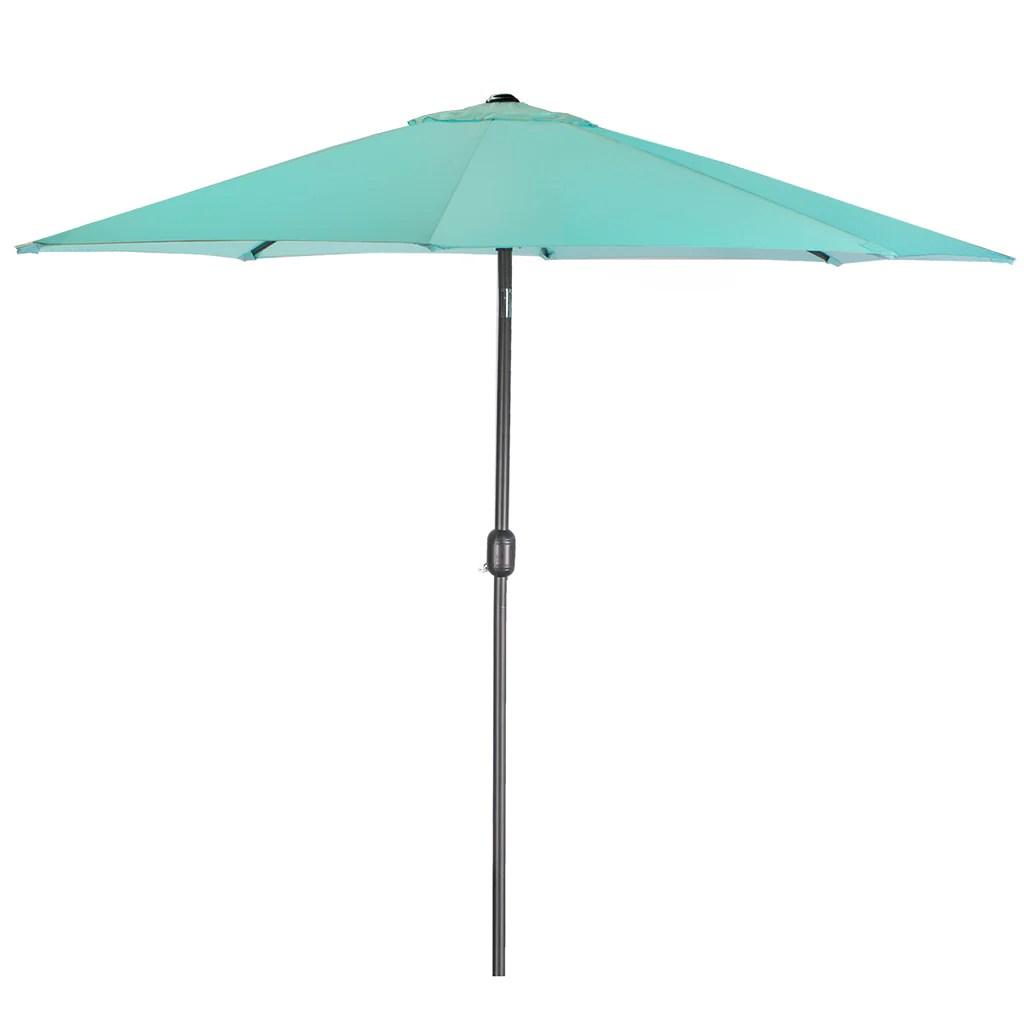 9ft outdoor patio umbrella market table yard garden w crank tilt shade aqua