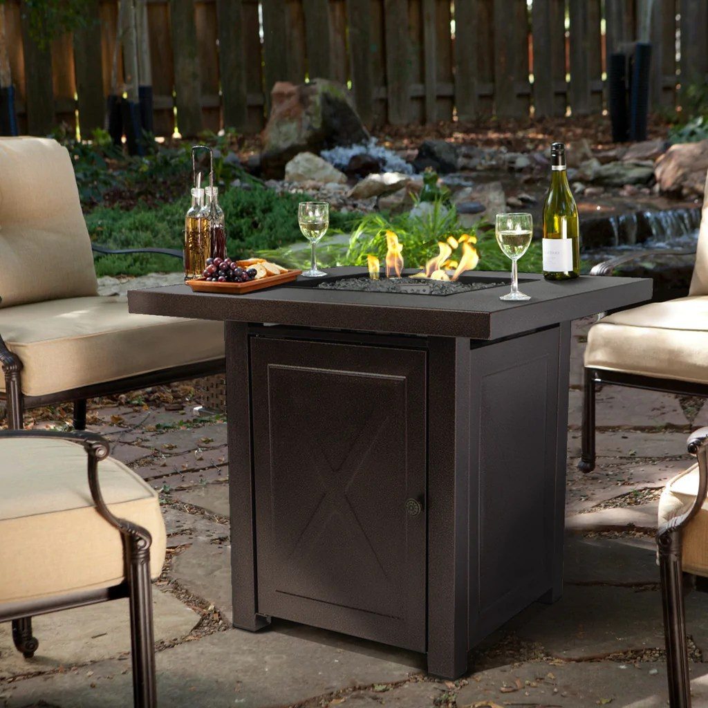 barton outdoor firepit table furniture patio deck backyard heater fireplace ignition